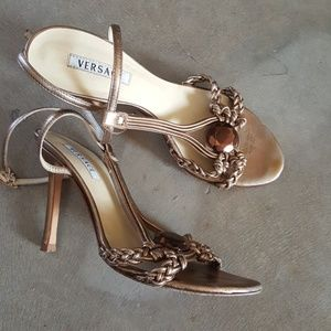 Versace Gold Jeweled Sandals